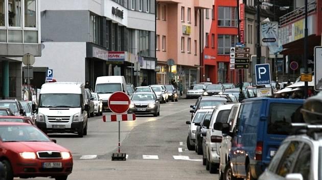 Benešovská Tyršova ulice 10. ledna 2015. Jak bude vypadat za dva roky?