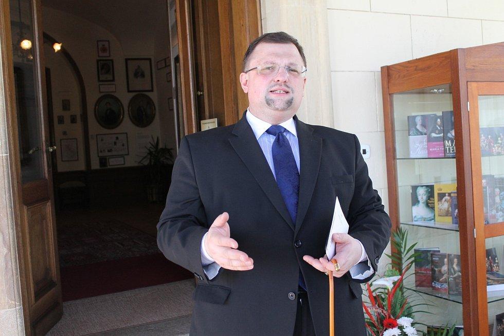Jindřich Forejt na zámku Konopiště.