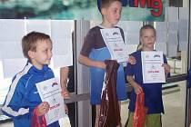 František Švehla (uprostřed) z TJ Lokomotiva Beroun dokázal vybojovat první místo.