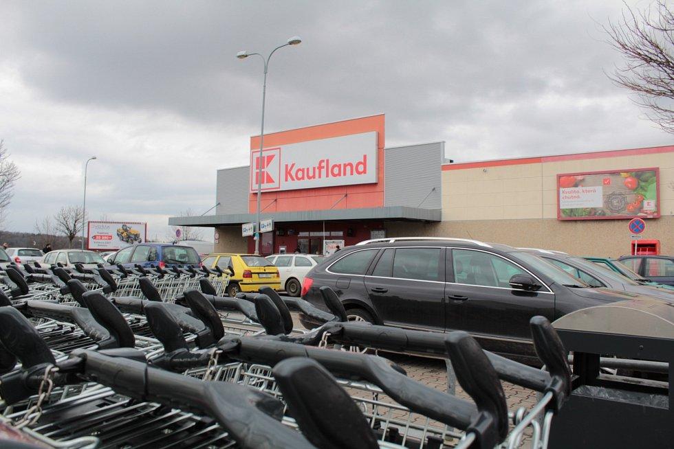 Kaufland na benešovských Červených Vršcích.