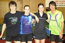 Na vánočním turnaji ve Vlašimi sehráli exhibici: Michal Obešlo, Iveta Vacenovská, Kateřina Pěnkavová a Tomáš Tregler.