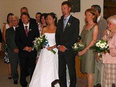 Ze svatebního obřadu Moniky Bubeníkové a  Tomáše Břínka