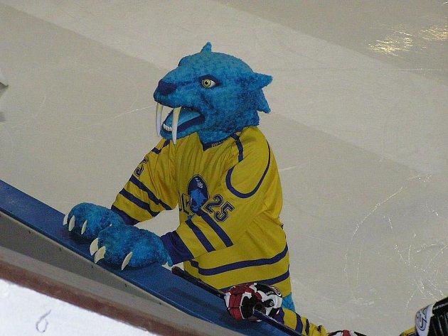 Maskot benešovských hokejistů Vodní lev