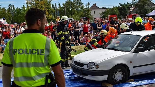 Den hasičů a záchranářů v Trhovém Štěpánově.