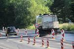 Generálka silnice E55 na Benešovsku.