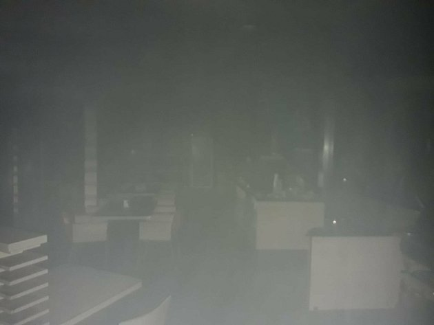 Požár motorestu Naháč událnice D1.