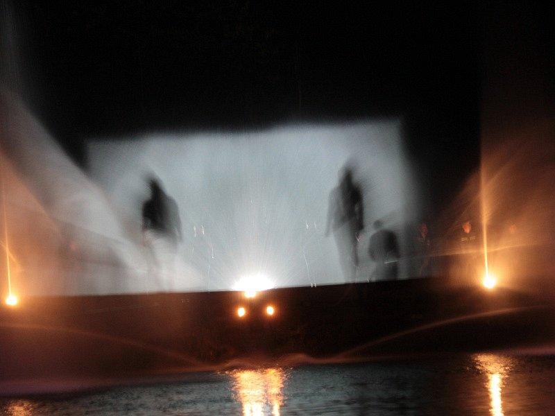 Vodní show v podání Sboru dobrovolných hasičů Ratměřice.