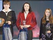 Dominik Míka, Aneta Perná a Nela Pýchová, tři nejlepší mladí sportovci.