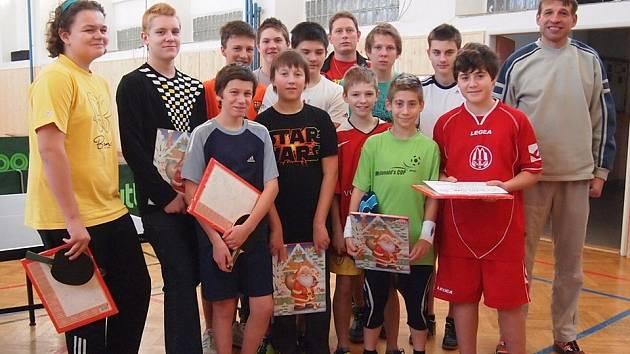 IV. ročník Vánočního turnaje ve stolním tenise v Divišově.