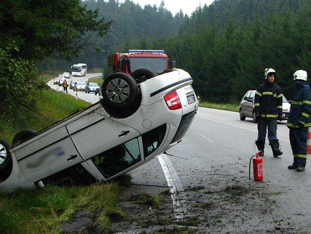Nehoda fabie na I/3 u Miličína.
