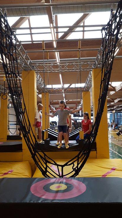 Z příměstského sportovního tábora v Mateřském centru Hvězdička v Benešově.