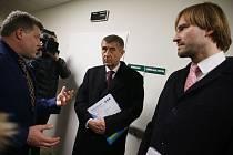 Z pracovní návštěvy premiéra Andreje Babiše a ministra zdravotnictví Adama Vojtěcha v Nemocnici Rudolfa a Stefanie v Benešově.