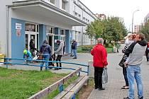 Poslední den v úterý 13. října 2020 na Základní škole Jiráskova v Benešově před další koronavirovou přestávkou.