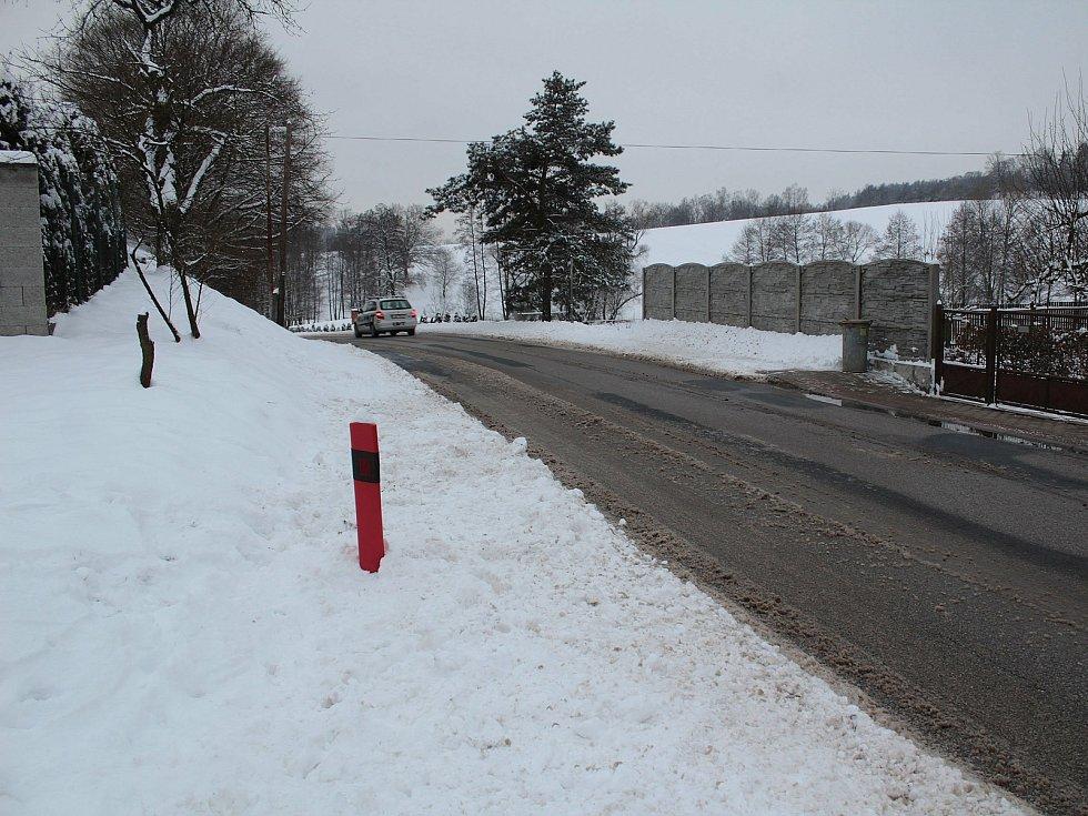 Zasněžené Čakovice v úterý 9. února 2021.