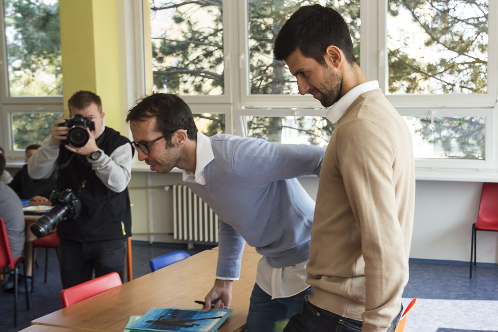 Novak Djokovič a Radek Štěpánek