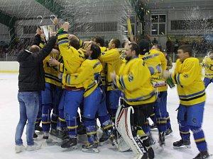 Hokejisté Černošic oslavili krajský titul