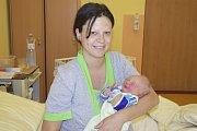 Gabriela Jiráková a Lukáš Kozák z Vlašimi jsou od 24. května šťastnými rodiči malého Tomáška Kozáka. Ten se narodil v 7.33 sváhou 3760 gramů a mírou 53 centimetrů.