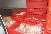 Masné produkty zajištěné kvůli porušení stanovených norem.