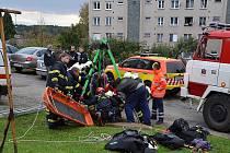 Zásah hasičů, zdravotníků a policistů v Čerčanech.
