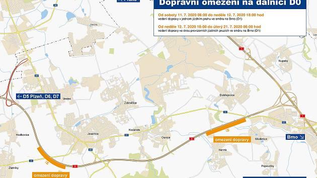 Do další etapy vstoupí v pondělí budování konstrukcí pro úsekové měření rychlosti na Pražském okruhu neboli dálnici D0.