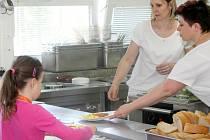 Ilustrační foto, školní jídelna