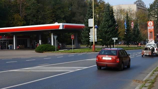 Benzina ve Vlašimi.