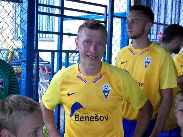 Josef Laštovka při posledním zápase v dresu Benešova.