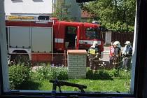 Požár místnosti domu v Radošovicích.