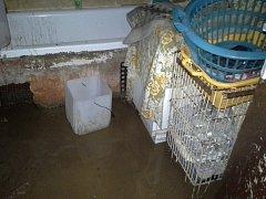 Bahno vyplavené ze sousedních polí po pátečním vydatném dešti skončilo rodině Zbyňka Křivánka z Benešova až v ložnici.