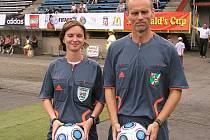 Lucie Ratajová společně se svým kolegou Miroslavem Garajou.