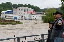 Červnové povodně ve Vlašimi.