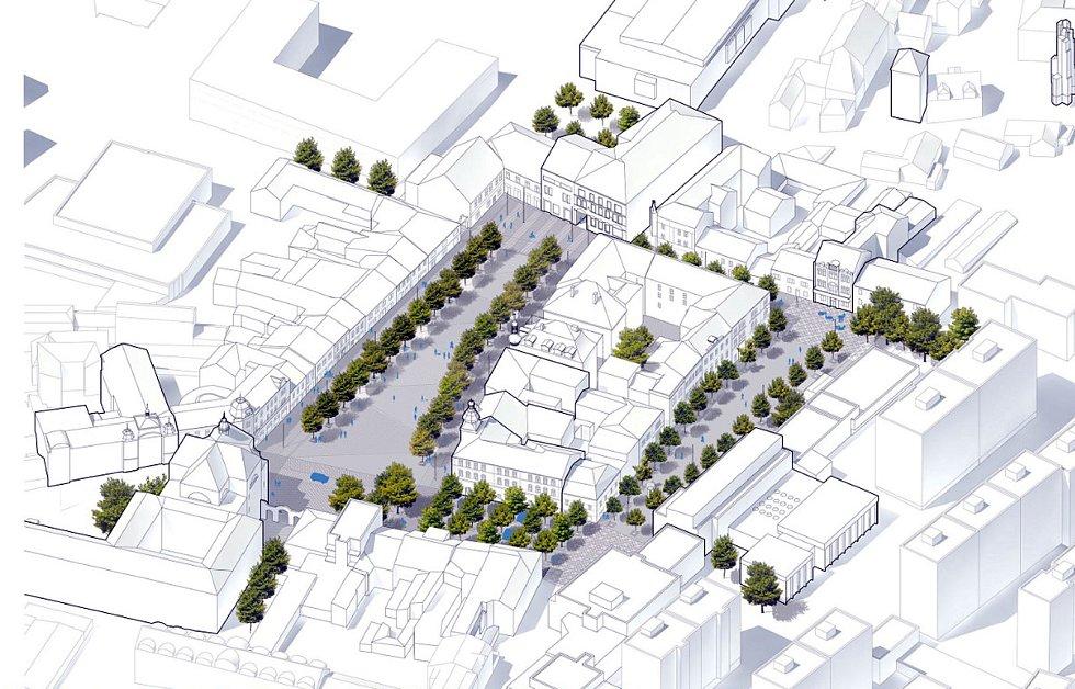 Architektonická soutěž na změnu podoby Masarykova náměstí, 3. místo.