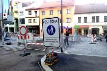 Tyršova ulice v Benešově začne sloužit veřejnosti bez omezení od začátku dubna.