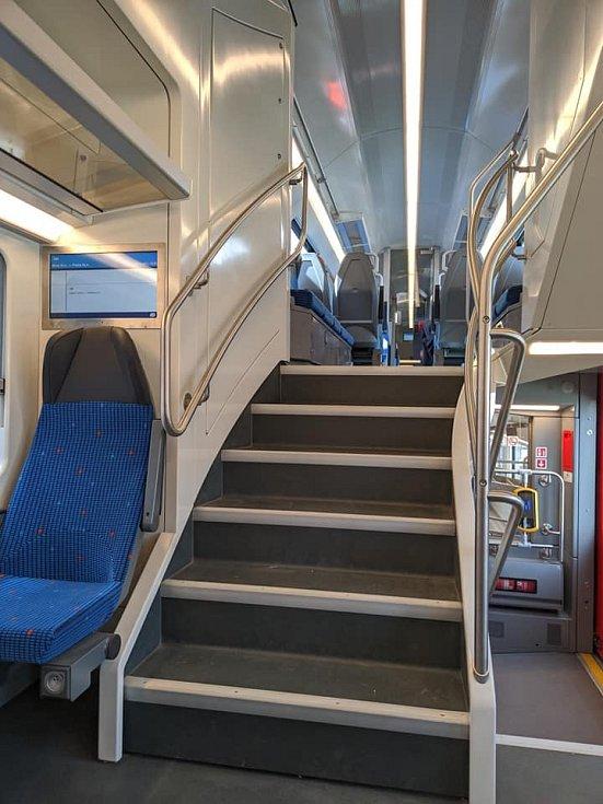 Vlaková souprava, která by jednou mohla jezdit na středočeských železničních tratích.