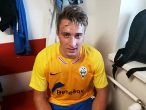 Luboš Balata dal jediný gól Benešova v Brozanech.