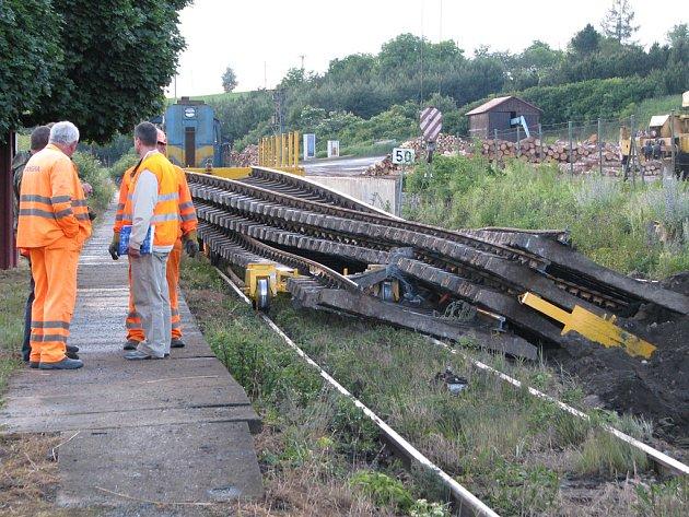 Pecerady, nehoda na železnici