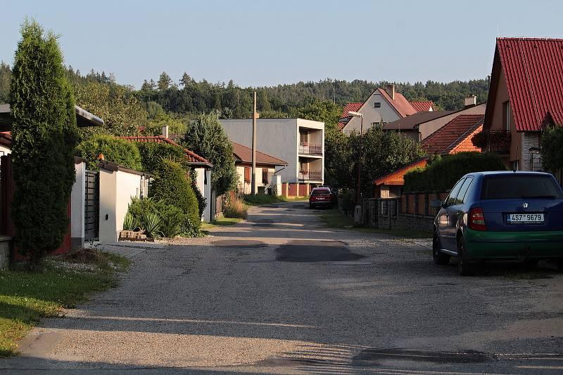 Místo exploze ve Vrchotových Janovicích 22. července 2021.