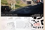 Návrhy studentů architektury ČVUT na proměnu bývalého sídla Compagu v Kaplířově ulici.