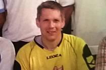 William Weidebnorner, Američan, který chytá ve fotbalové brance béčka Nespek ve III. A třídě.