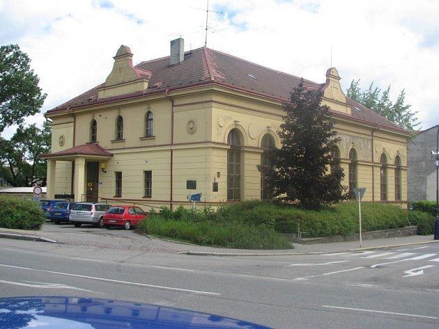 Křižovatka u benešovské sokolovny.