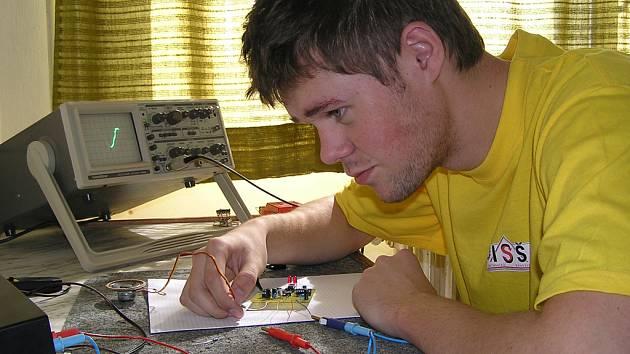 Student Michal Norbert.
