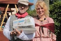 Hana a Petr Stehlíkovi uspořádali v loňském roce v Načeradci spolu s dobrovolníky první ročník Ševcovského staročeského jarmarku.