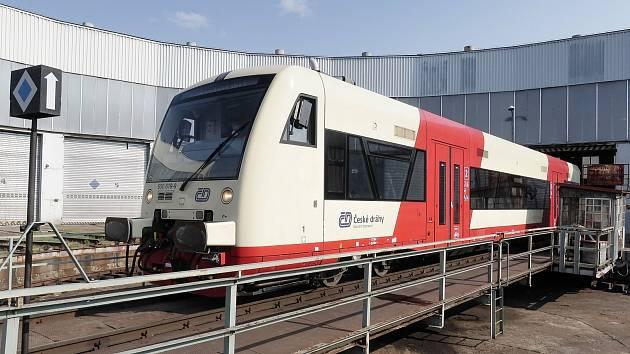 Nízkopodlažní motorový vlak typu Stadler RegioShuttle RS1 s obchodním označením RegioSpider.