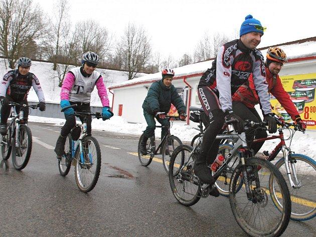 Novoroční vyjížďka benešovských cyklistů začne v Čechově ulici v 10 hodin.