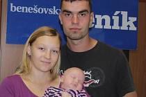 Nela Babková se svými rodiči. Veronikou Zákostelskou a Tomášem babkou.