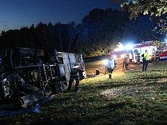 Noční cvičení složek IZS se konalo v Přestavlkách u Čerčan.už pojedenácté.