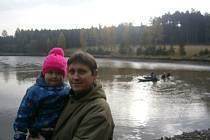 Výlov rybníku Podhorník u Kamberka.