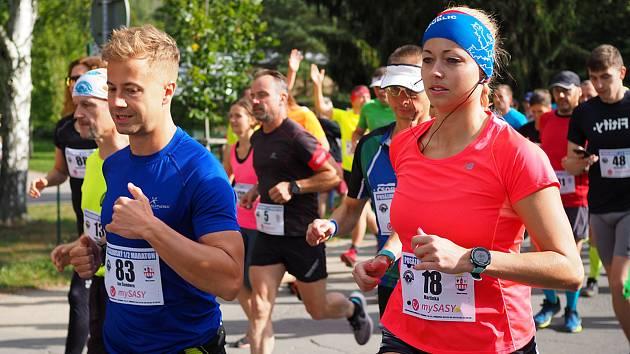 Posázavský 1/2 maraton v Sázavě.