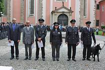 Ocenění policistů z Benešovska (zprava Stanislav Voráček, Pavel Vnenčák, Petra Pecková) se uskutečnilo v pražském policejním muzeu.