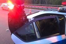 Pražští policisté zastavili Afgánce podezřelého z pokusu o vraždu na Benešovsku u sjezdu na Divišov a Český Šternberk.